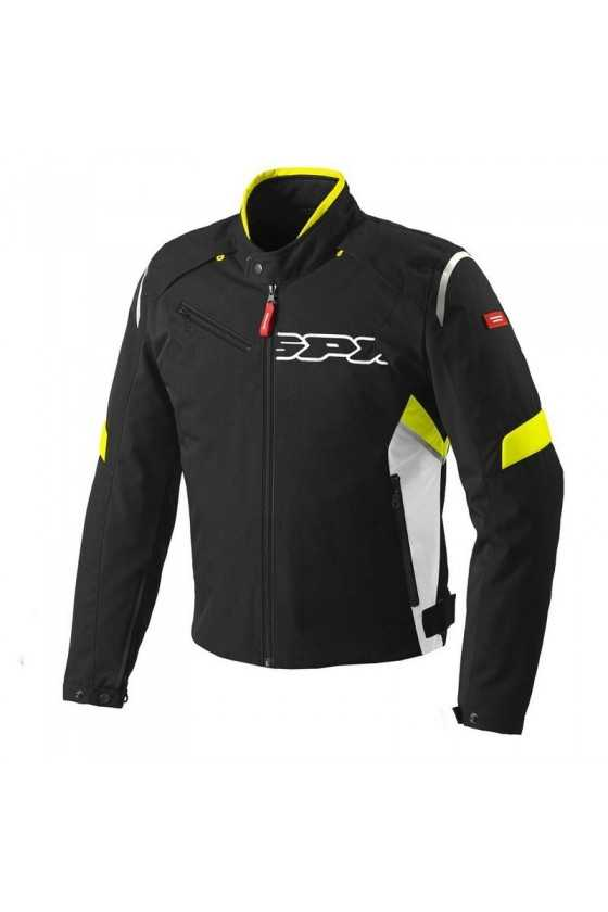 Chaqueta Moto Spidi Flash Tex Black-Yellow